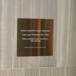 18 York Street - stainless steel plaque