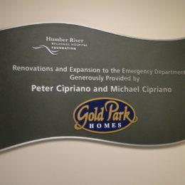 HRRH recognition plaque
