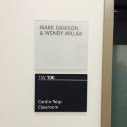 Oakville Hospital Foundation - Donor Room Plaques