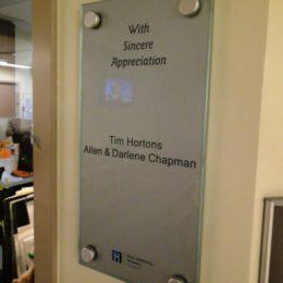 Ross Memorial,custom acrylic recognition plaque (8x16)