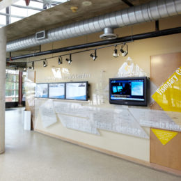 Sheridan College donor wall