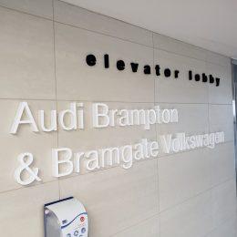 Architectural - Indoor Signage - Audi & Volkswagen Dimensional Lettering