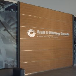 Architectural - Indoor Signage - Pratt & Whitney Dimensional Logo