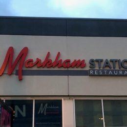 Architectural - Outdoor Signage - Markham Station Logo