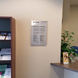 Donor Recognition - Naming & Dedication Signage - Abrigo Plaque