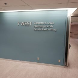Donor Recognition - Naming & Dedication Signage - Baycrest Dimensional Lettering